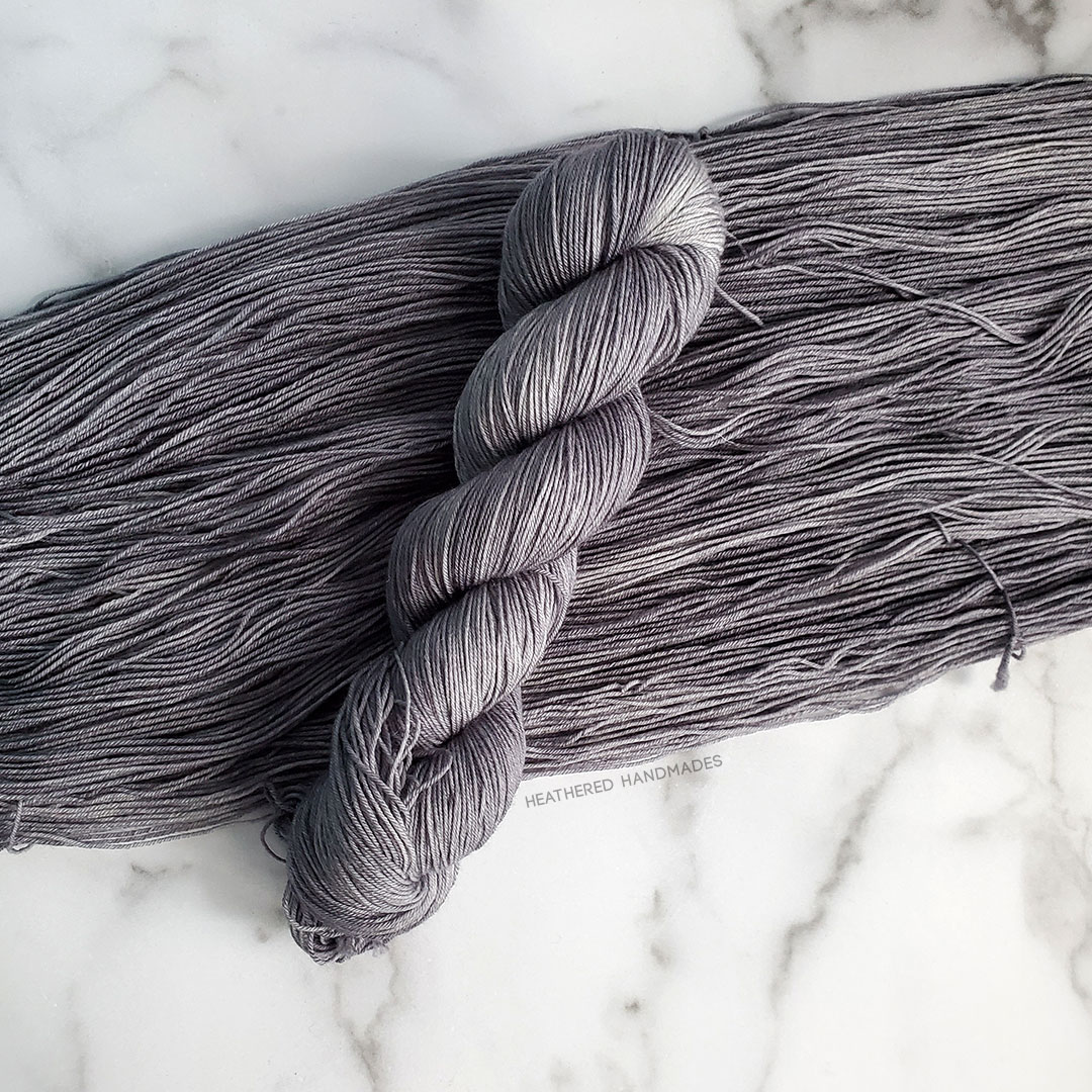 Charcoal—YARN—Heathered-Handmades