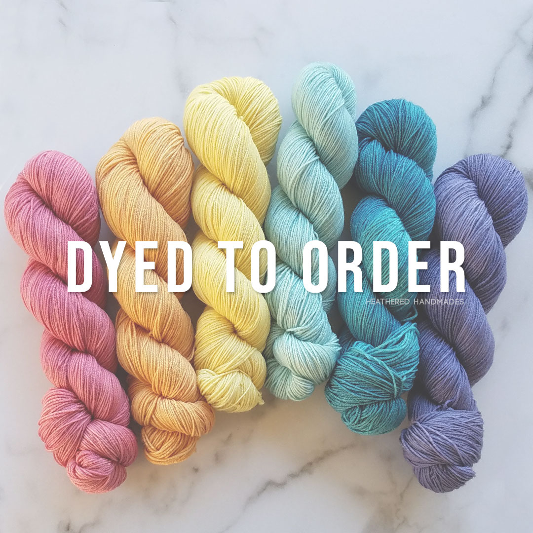 Dyed-to-order—YARN—Heathered-Handmades