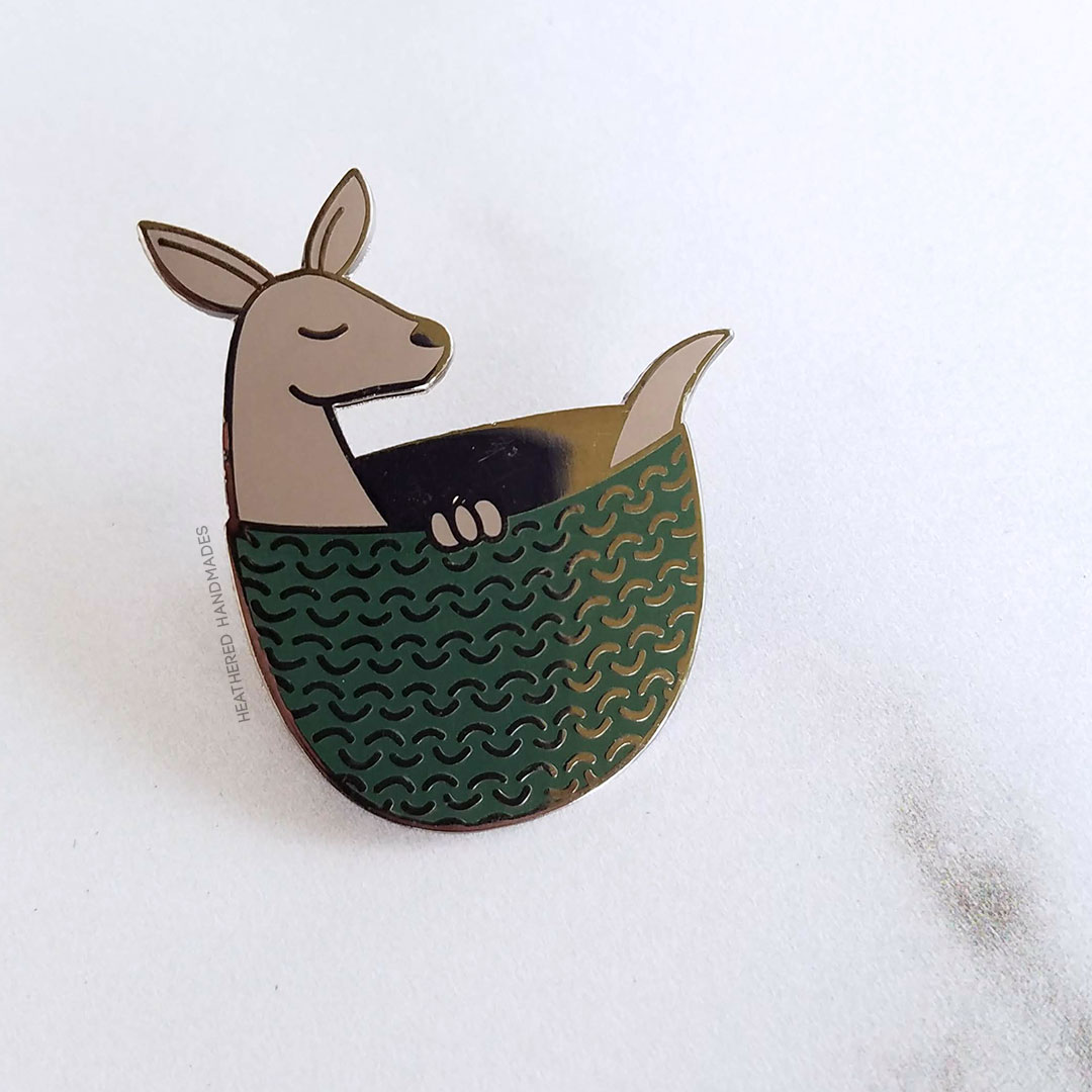 Kangaroo-Joey-Enamel-Pin—Heathered-Handmades