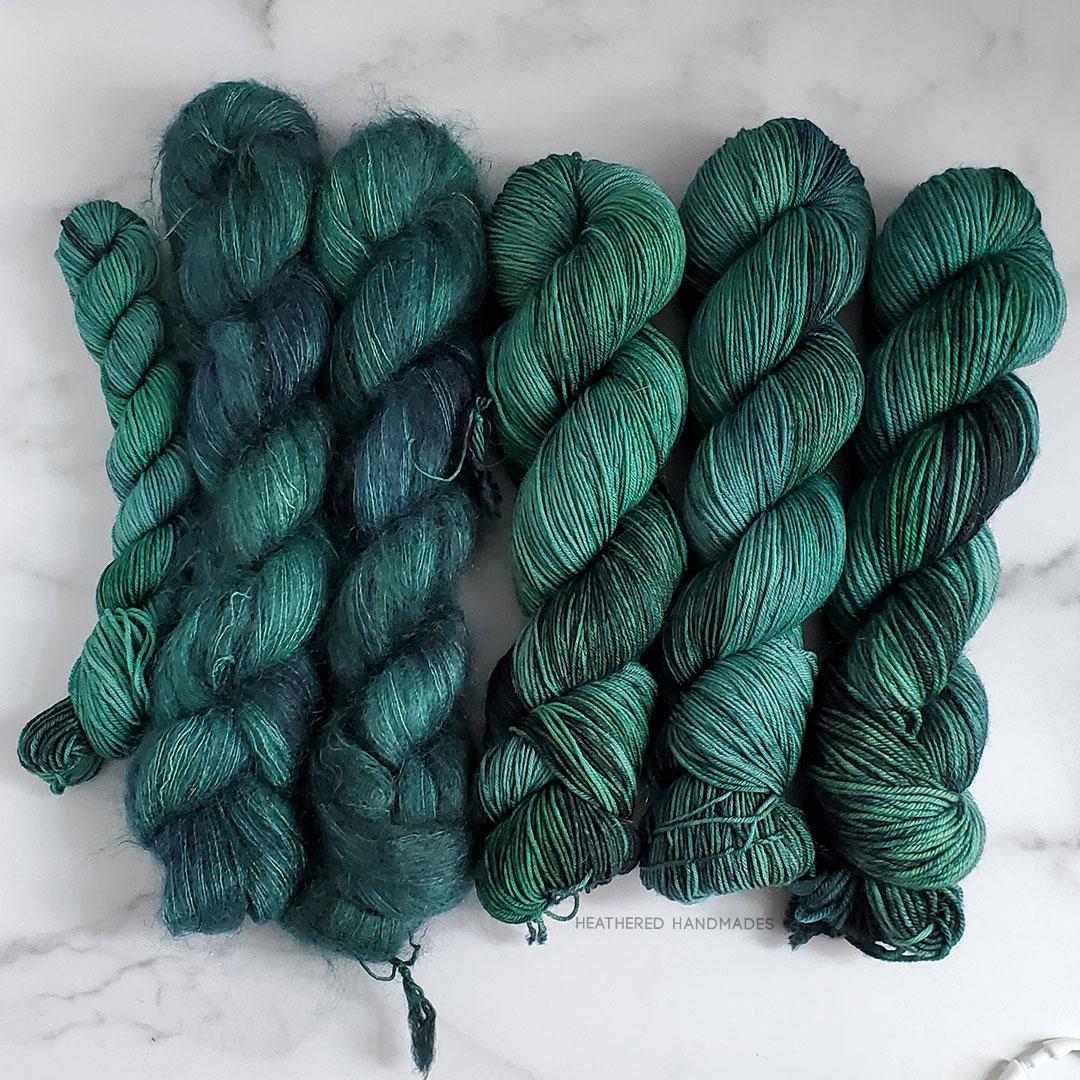 Emerald-Oops—YARN—Heathered-Handmades—detail