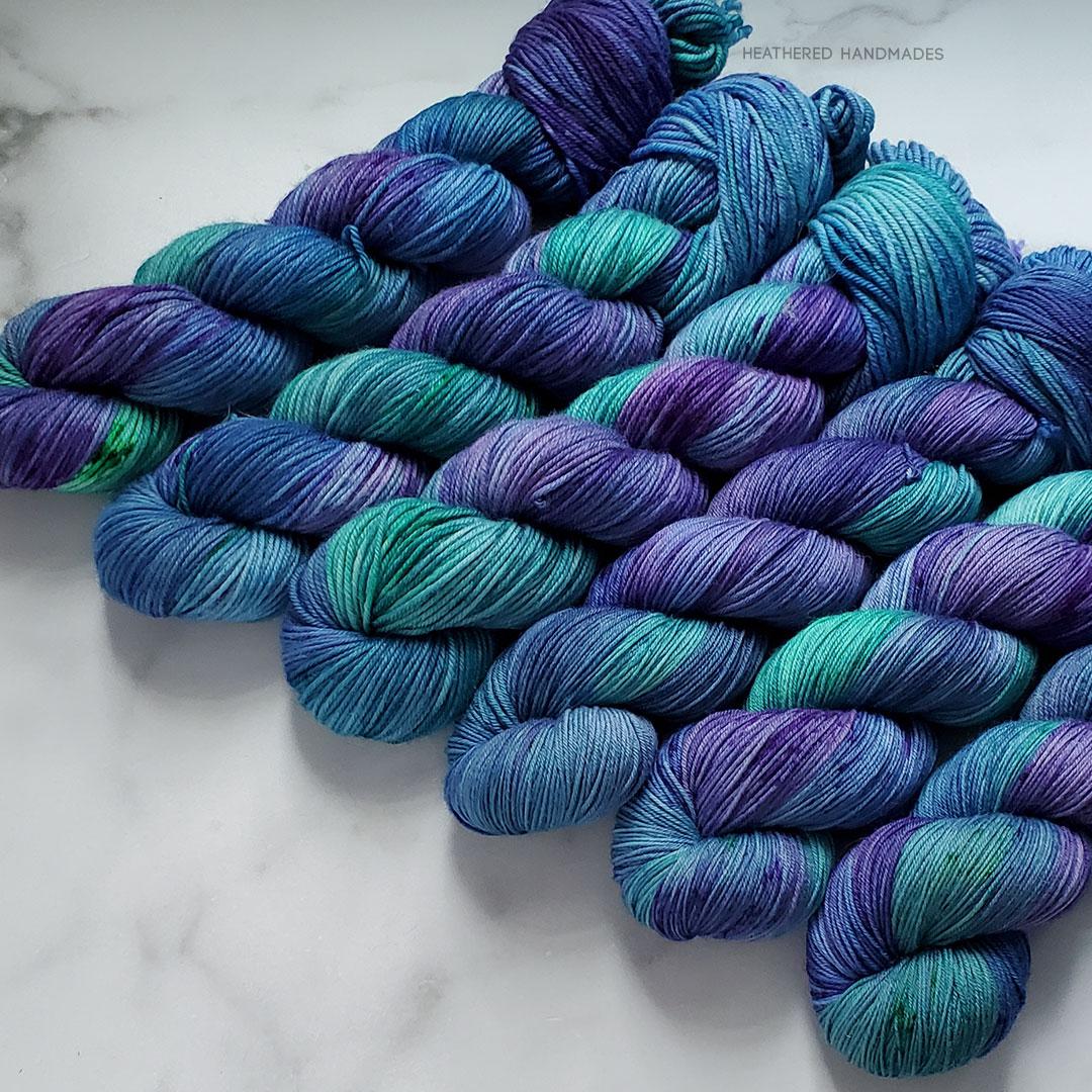 Peacock-Hair—YARN—Heathered-Handmades—detail