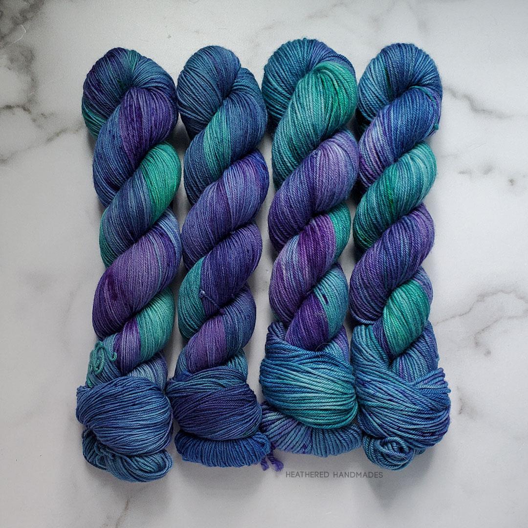 Peacock-Hair—YARN—Heathered-Handmades