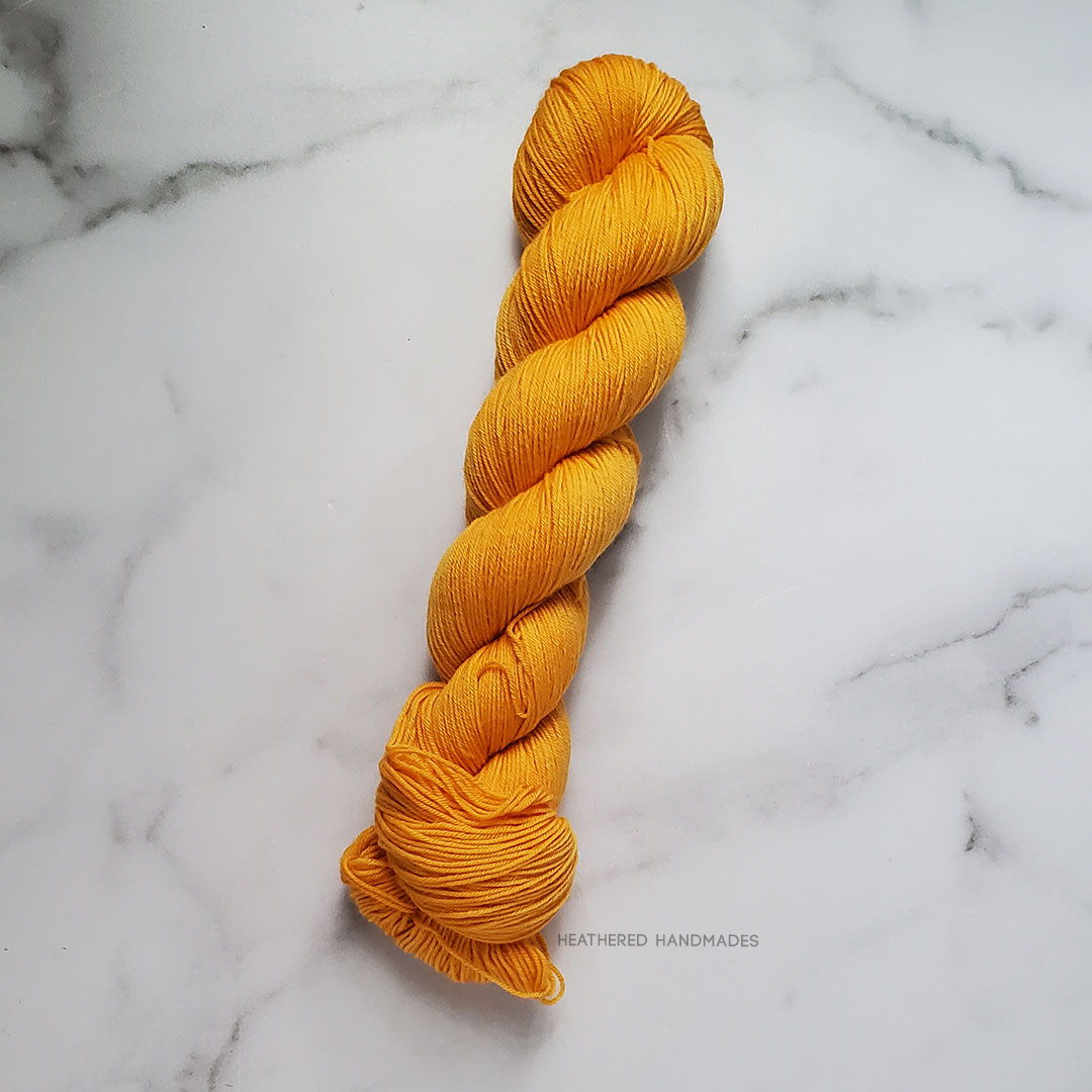 Tangerine—YARN—Heathered-Handmades